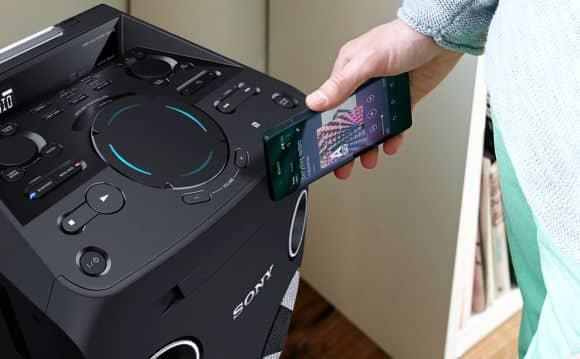 Conexión NFC altavoz de gran potencia Sony MHC-V77DW