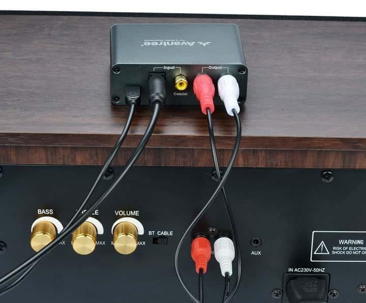 Conectar un equipo de sonido antiguo a un TV nuevo