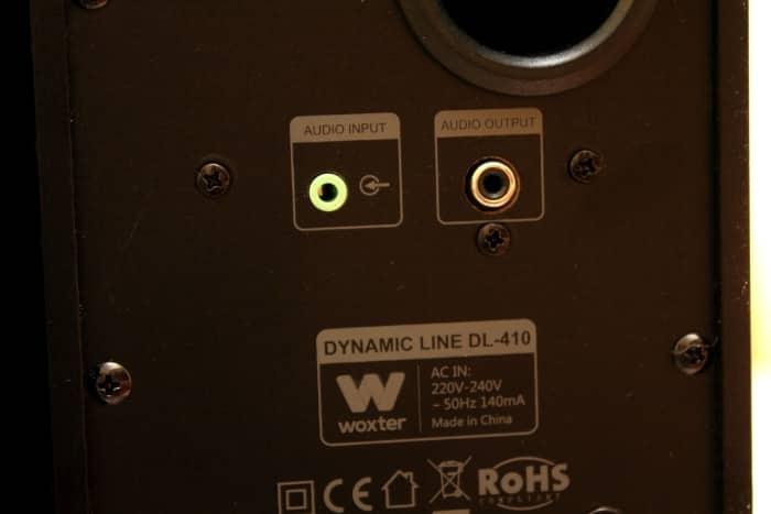 Conexiones traseras Woxter DL-410