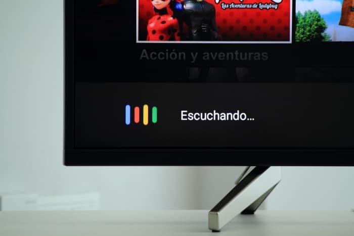Control por voz Android TV Sony XF8596