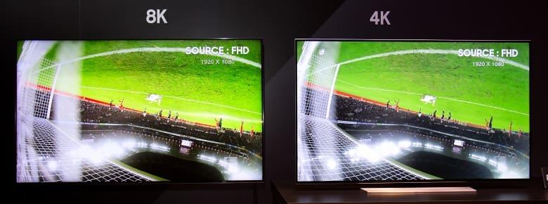 Televisores Samsung 8K. Comparativa en Full HD TV 8K vs. 4K