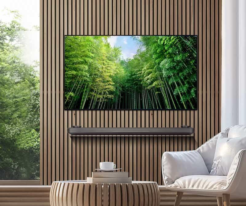 TV OLED LG W8 Signature con soporte de pared magnético