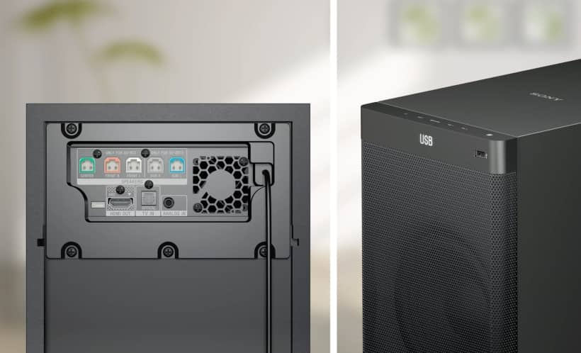 Conexiones barra de sonido 5.1 Sony HT-RT3