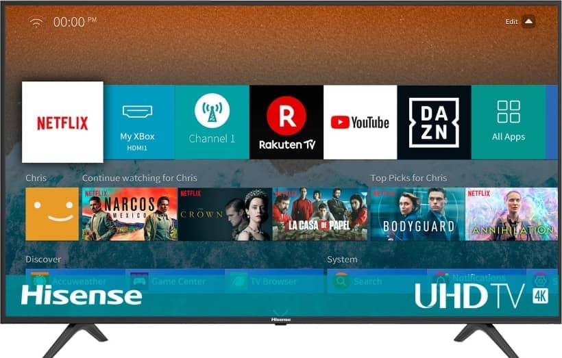 TV Hisense BE7000 UHD 2019