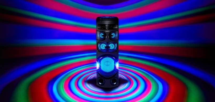 Sony MHC-V82D efecto de luces 360º