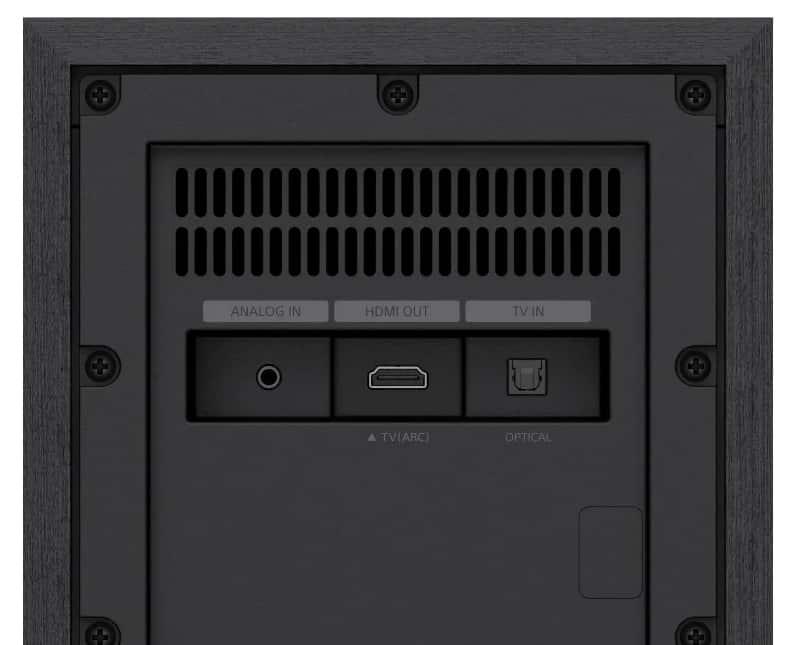Subwoofer con conexiones Sony HT-S20R