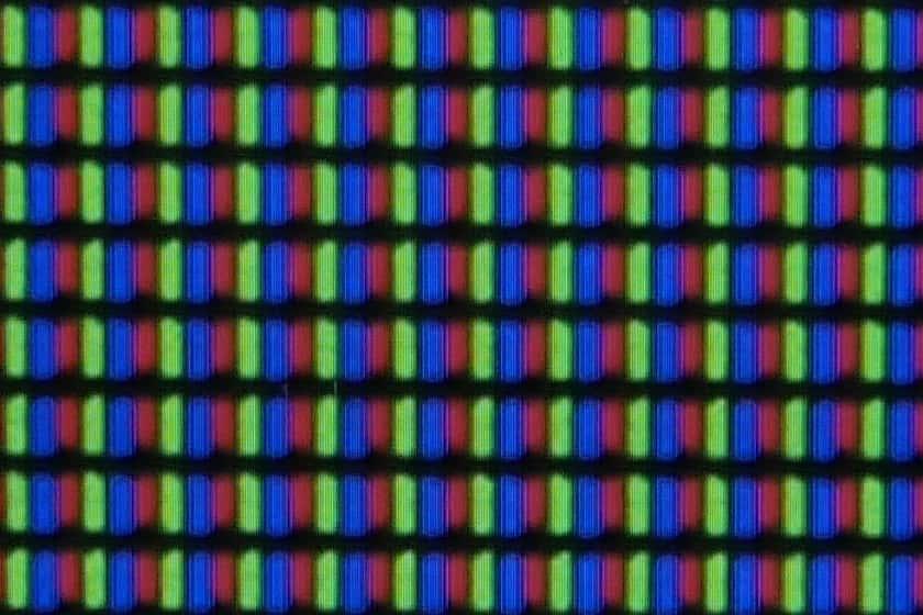 Estructura de píxeles panel Samsung TU8505