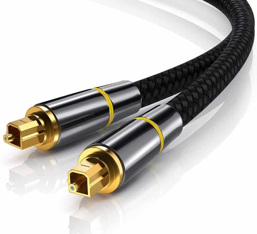 Cable de auido óptico para conectar barra de sonido al proyector