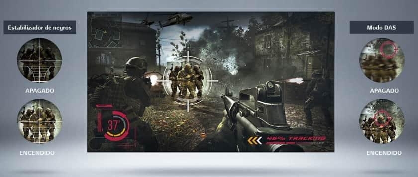 Modo juegos LG 28TL510S Smart TV