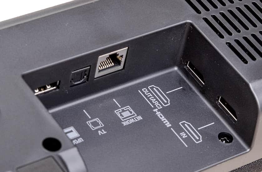 Conexiones de la barra de sonido Yamaha YAS-209