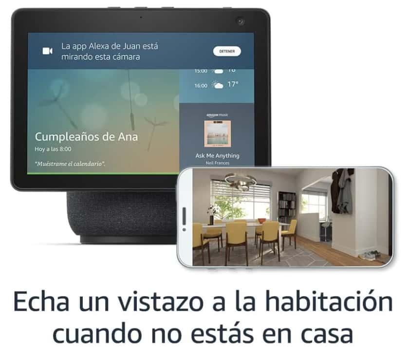 Función de vigilancia del Echo Show 10 controlada con app para el móvil