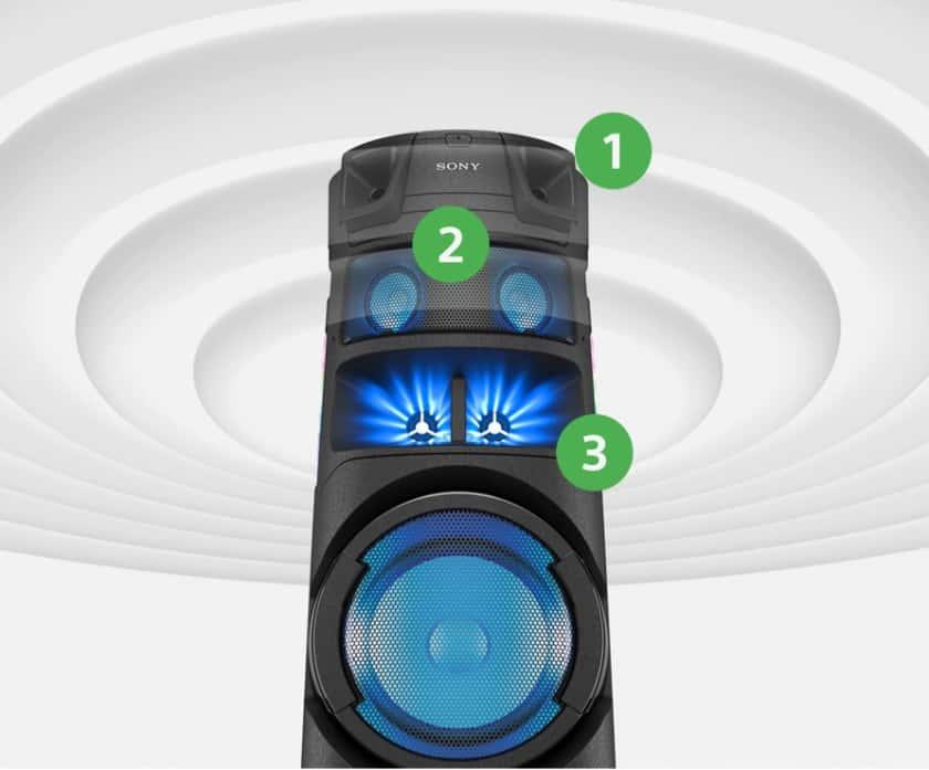 Altavoces Sony MHC-V83D sonido omnidireccional
