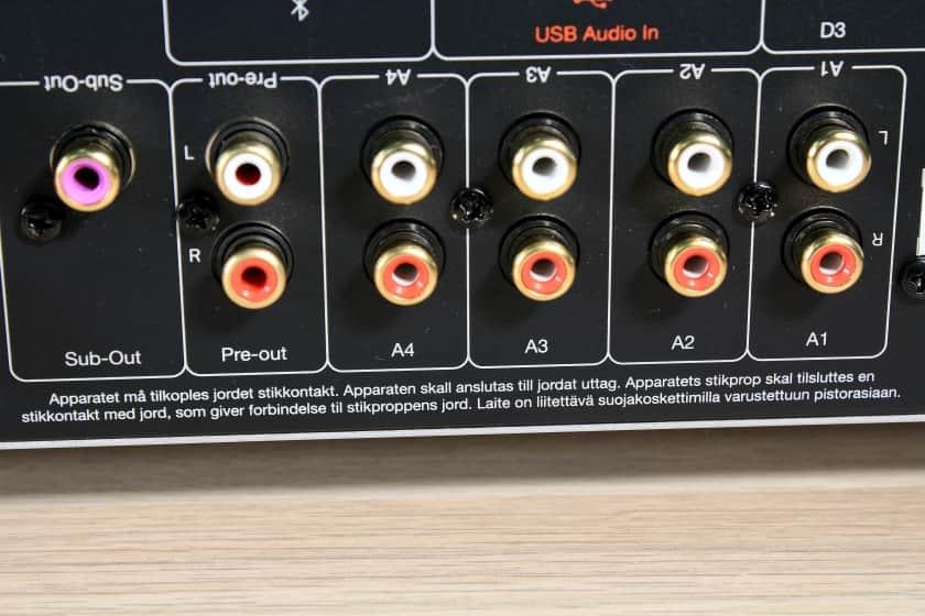 Conexiones analógicas del amplificador CXA61 de Cambridge Audio