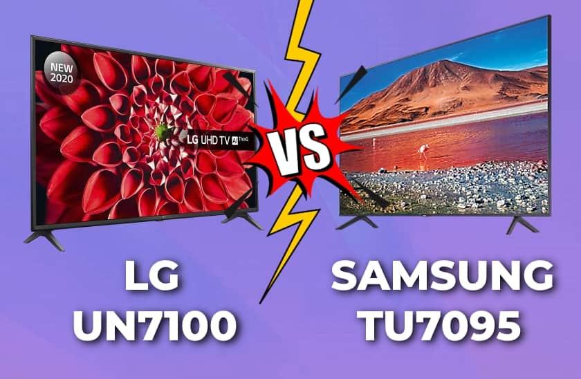 LG UN7100 vs. Samsung TU7095, TU7105