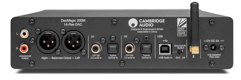 Conexiones traseras Cambridge Audio DacMagic 200M