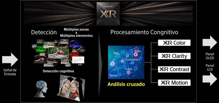 Nuevo procesador XR cognitivo de Sony