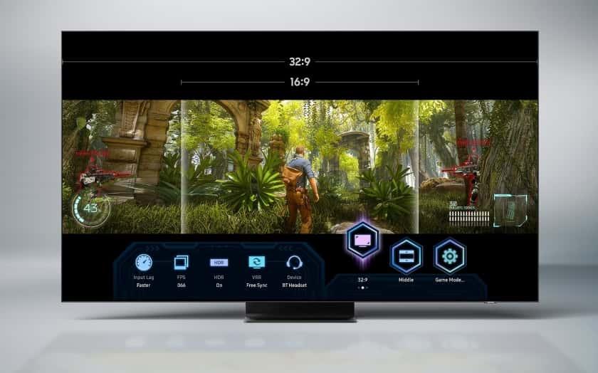Modo de juegos panoramico en Samsung QN95A