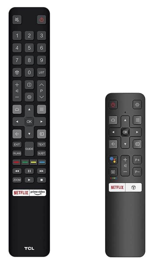 Mandos incluidos en el TV C825 Mini LED de TCL