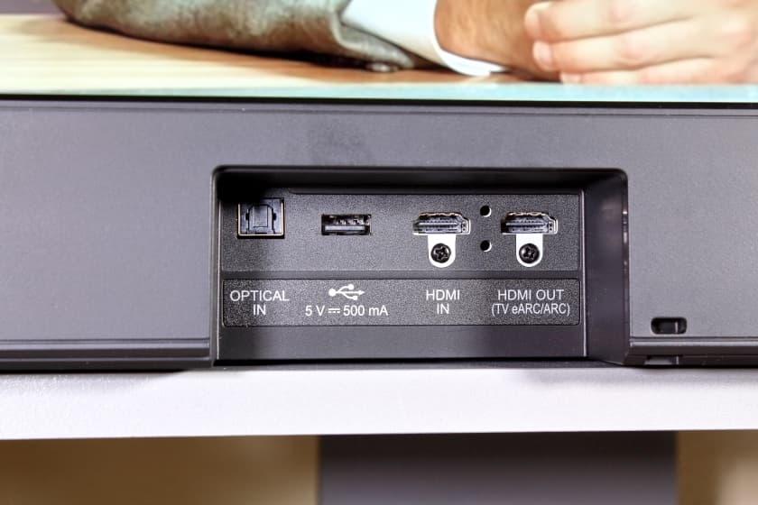 Conexiones de la barra de sonido SPD7Y de LG