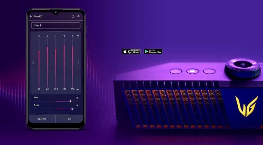 Ecualización personalizada del altavoz gaming LG GP9 UltraGear