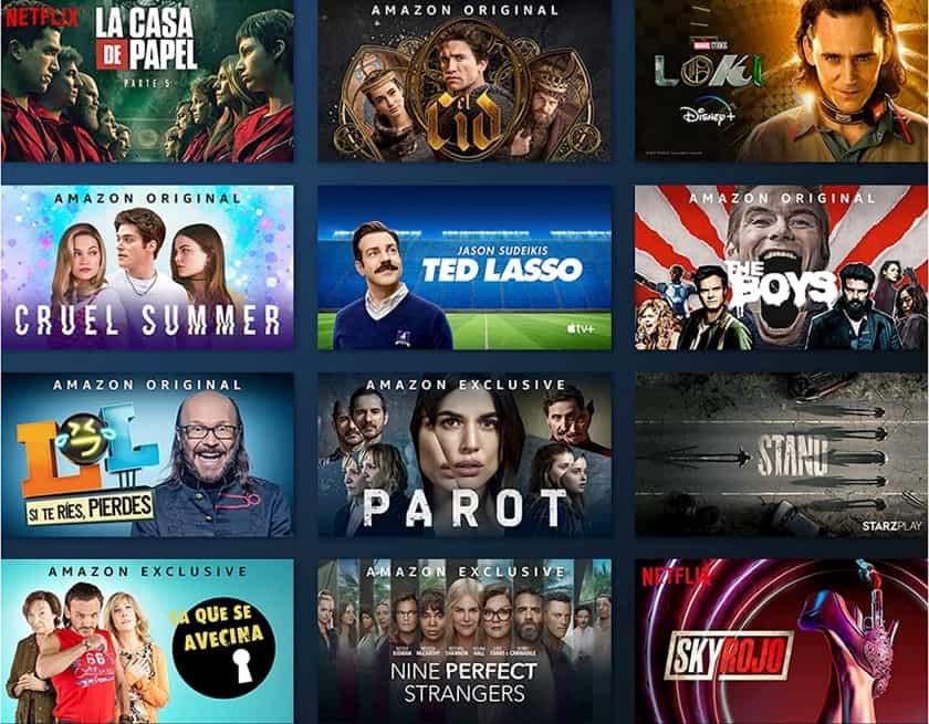 Servicios de películas y series disponibles