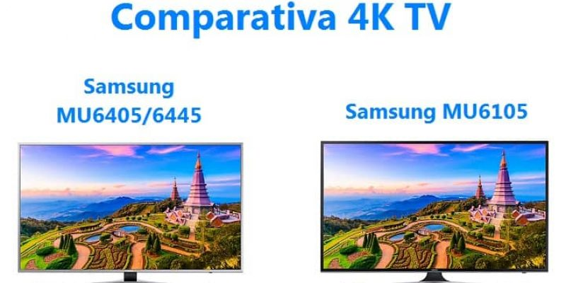 Comparativa TV: Opinión Samsung MU6405 vs. MU6105