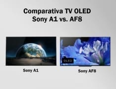 Comparativa televisores OLED Sony AF8 y A1