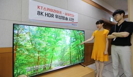 Samsung y KT retransmiten con éxito señal por satélite en 8K