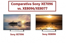 Comparativa TV 4K Sony XE7096 vs. XE8096