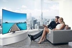 Televisor curvo o plano. ¿Qué es mejor?